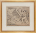 "Militaria:Ephemera, ""Soldiers in Battle"" drawing by G. Stancliff, March 1832. ..."