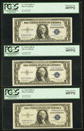 Small Size:Silver Certificates, Fr. 1618 $1 1935H Silver Certificates. Three Examples. PCGS Superb Gem New 68PPQ.. ... (Total: 3 notes)