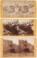 American Indian Art:Photographs, THREE MODOC WAR (1872) STEREOVIEWS BY EDWARD MUYBRIDGE... (Total: 3Items)
