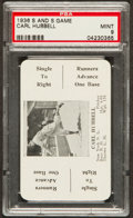 Baseball Cards:Singles (1930-1939), 1936 S and S Game Carl Hubbell PSA Mint 9....