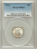 Barber Dimes: , 1912 10C MS64 PCGS. PCGS Population (236/189). NGC Census:(245/192). Mintage: 19,350,000. Numismedia Wsl. Price for proble...