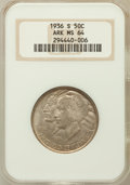 Commemorative Silver, 1936-S 50C ARKANSAS MS64 NGC. NGC Census: (364/439). PCGSPopulation (551/503). Mintage: 9,662. Numismedia Wsl. Price forp...