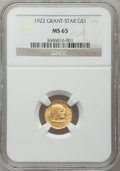 Commemorative Gold, 1922 G$1 Grant With Star MS65 NGC....