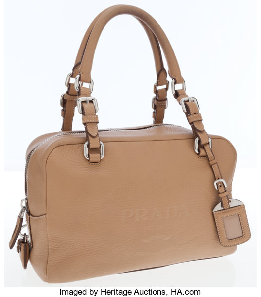 85d0992327e6 Prada Light Brown Leather Top Handle Bag. ... Luxury Accessories ...
