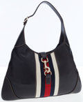 Luxury Accessories:Bags, Gucci Navy Leather with Web Stripe Jackie Bag . ...