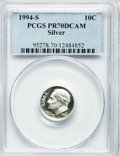 Proof Roosevelt Dimes: , 1994-S 10C SILVER PR70 Deep Cameo PCGS. PCGS Population (95). NGCCensus: (142). Numismedia Wsl. Price for problem free NG...