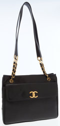 Luxury Accessories:Bags, Chanel Black Lambskin Leather Classic Shoulder Bag with GoldHardware. ...
