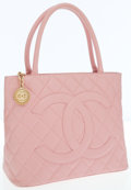 Luxury Accessories:Bags, Chanel Pink Caviar Leather Medallion Tote Bag with Gold Hardware ....
