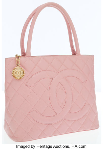 22a3c74c08b4 Chanel Pink Caviar Leather Medallion Tote Bag with Gold Hardware ...