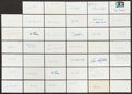 Autographs:Index Cards, Baseball Stars Signed Index Cards Lot Of 40+....