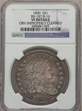 Early Dollars, 1800 $1 -- Obverse Improperly Cleaned -- NGC Details. VF. B-16,BB-187, R.2....