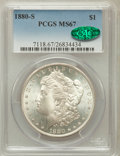 Morgan Dollars: , 1880-S $1 MS67 PCGS. CAC. PCGS Population (1808/169). NGC Census:(3086/255). Mintage: 8,900,000. Numismedia Wsl. Price for...