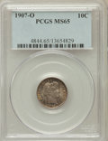 Barber Dimes: , 1907-O 10C MS65 PCGS. PCGS Population (17/13). NGC Census: (16/15).Mintage: 5,058,000. Numismedia Wsl. Price for problem f...