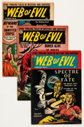 Golden Age (1938-1955):Horror, Web of Evil Group (Quality, 1953-54) Condition: Average VG....(Total: 10 Comic Books)