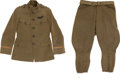 Military & Patriotic:WWI, WWI U.S. Air Service Tailor-Made Pilot's Tunic and Breeches....(Total: 2 Items)