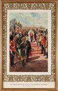 """Military & Patriotic:Foreign Wars, Chromolithograph of """"The Imperial Bodyguard: Types of the Soldiers of the Empire"""" by G. Amato, Published in the Illustra..."""