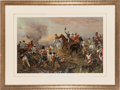 "Militaria:Ephemera, ""Wellington Giving Orders to Advance at Waterloo"" Print, ..."