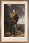 Militaria:Ephemera, British Officer Print, ...