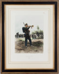 "Militaria:Ephemera, ""Chasseurs A Pied"", print by Édouard Detaille, 1885...."