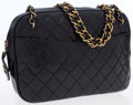 Luxury Accessories:Bags, Chanel Black Lambskin Leather Camera Shoulder Bag . ...