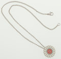 Luxury Accessories:Accessories, Chanel Silver & Enamel Flower Motif Necklace. ...