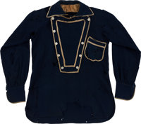 George Armstrong Custer: His Navy Wool Bibb Shirt, Worn by Him in One of His Most Famous Photographs