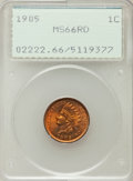 Indian Cents, 1905 1C MS66 Red PCGS....