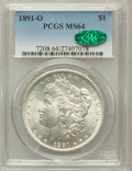 Morgan Dollars, 1891-O $1 MS64 PCGS. CAC....