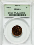 Proof Indian Cents, 1903 1C PR66 Red PCGS....