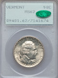 Commemorative Silver, 1927 50C Vermont MS62 PCGS. CAC. PCGS Population (258/3741). NGCCensus: (154/2720). Mintage: 28,142. Numismedia Wsl. Price...