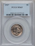 Buffalo Nickels: , 1927 5C MS65 PCGS. PCGS Population (681/290). NGC Census: (308/95).Mintage: 37,981,000. Numismedia Wsl. Price for problem ...