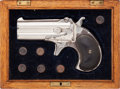 Handguns:Derringer, Palm, Cased Remington Over & Under Derringer Type II. ...