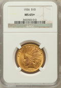 Indian Eagles, 1926 $10 MS65+ NGC....