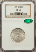 Seated Quarters, 1878-CC 25C MS64 NGC. CAC....