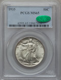Walking Liberty Half Dollars: , 1935 50C MS65 PCGS. CAC. PCGS Population (1080/462). NGC Census:(683/246). Mintage: 9,162,000. Numismedia Wsl. Price for p...