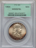 Franklin Half Dollars: , 1954 50C MS65 Full Bell Lines PCGS. PCGS Population (1064/81). NGCCensus: (236/11). Numismedia Wsl. Price for problem fre...