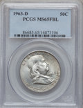 Franklin Half Dollars: , 1963-D 50C MS65 Full Bell Lines PCGS. PCGS Population (804/69). NGCCensus: (332/19). Numismedia Wsl. Price for problem fr...