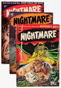 Golden Age (1938-1955):Horror, Nightmare #10-12 Group (St. John, 1953-54) Condition: AverageVG.... (Total: 3 Comic Books)