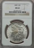 Morgan Dollars: , 1899 $1 MS62 NGC. NGC Census: (1090/6066). PCGS Population(1318/8538). Mintage: 330,846. Numismedia Wsl. Price for problem...