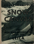 Books:Photography, [Photography]. Stefan Kruckenhauser. Snow Canvas. Hellmut Elsner, 1937. Publisher's quarter cloth with toning, and w...