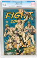 Golden Age (1938-1955):War, Fight Comics #29 Rockford pedigree (Fiction House, 1943) CGC NM- 9.2 Cream to off-white pages....