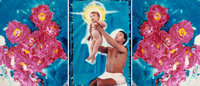 DAVID LACHAPELLE (American, b. 1964) Untitled (Triptych), 1988 C-prints with mixed-media 40 x 31
