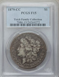 Morgan Dollars, 1879-CC $1 Fine 15 PCGS. Ex: Teich Family Collection. PCGSPopulation (105/3571). NGC Census: (58/1864). Mintage: 756,000. ...