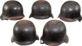 Militaria:Helmets, Lot of Five Post-WWII West German Steel Helmets.... (Total: 5 Items)