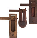 Military & Patriotic:WWI, Lot of Three WWI and WWII Era Gas Rattle Alarms.... (Total: 3 Items)