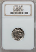 Buffalo Nickels: , 1931-S 5C MS65 NGC. NGC Census: (702/64). PCGS Population(1473/409). Mintage: 1,200,000. Numismedia Wsl. Price forproblem...
