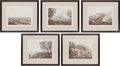 Militaria:Ephemera, Five Henry Colburn Prints: Napoleonic War Scenes. ... (Total: 5Items)