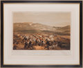 "Militaria:Ephemera, ""Charge of the Heavy Cavalry Brigade, 25th Oct 1854, Plate 6"" Print...."