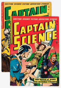 Captain Science #6 and 7 Group (Youthful Magazines, 1951).... (Total: 2 Comic Books)