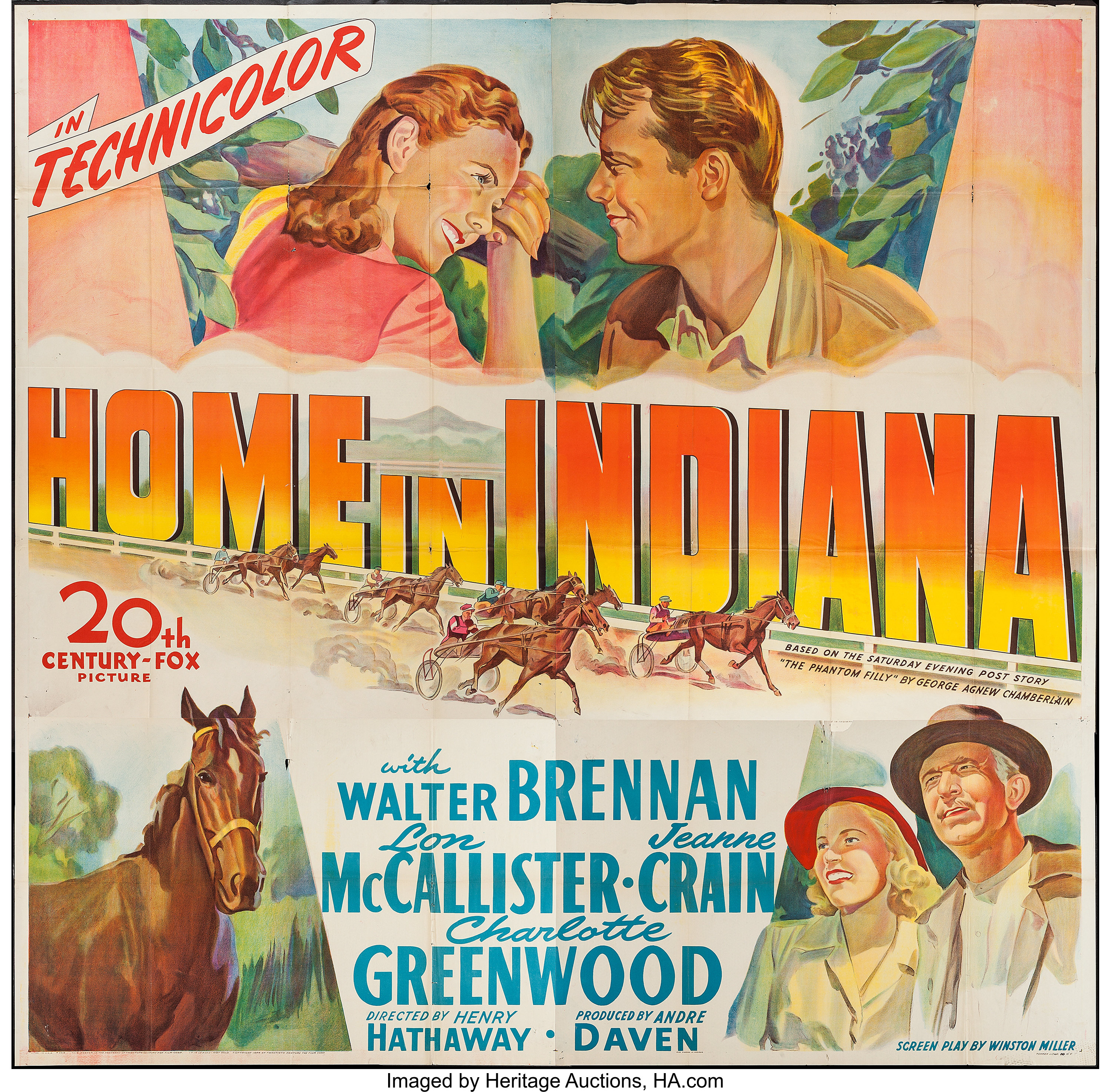 Home in Indiana (20th Century Fox, 1944). Six Sheet (79
